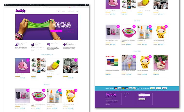 squish.ly website ecommerce store